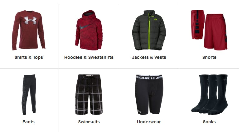 623982767e15 Dick s Sporting Goods categories you ll love. Girls  apparel